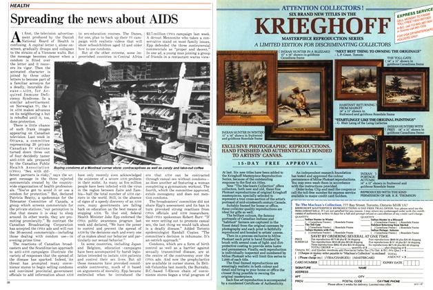 Article Preview: Spreading the news about AIDS, March 1987 | Maclean's