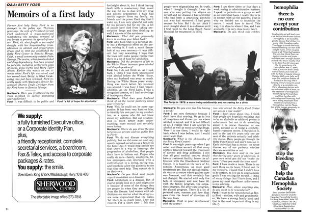 Article Preview: Memoirs of a first lady, March 1987 | Maclean's