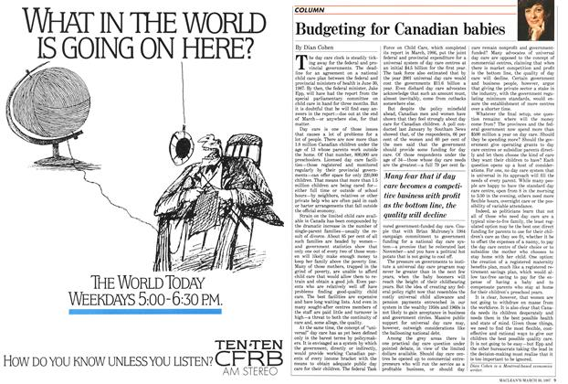 Article Preview: Budgeting for Canadian babies, March 1987 | Maclean's