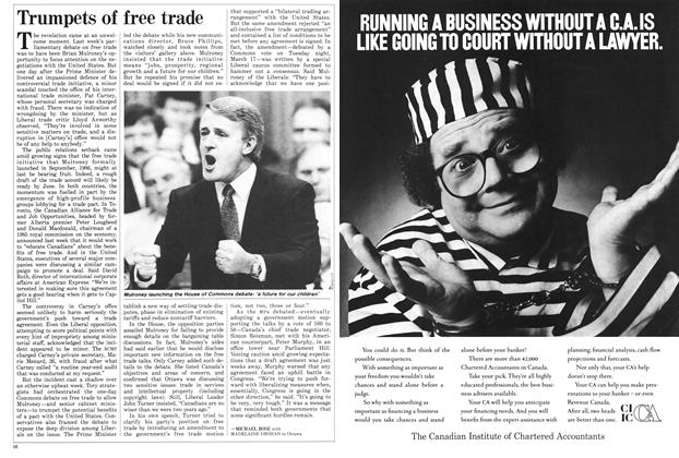 Article Preview: Trumpets of free trade, March 1987 | Maclean's