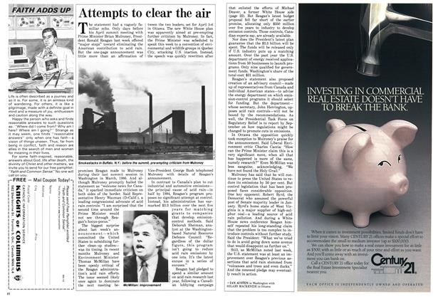 Article Preview: Attempts to clear the air, March 1987 | Maclean's
