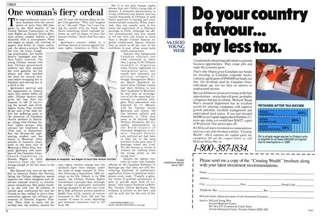 Article Preview: One woman's fiery ordeal, March 1987 | Maclean's