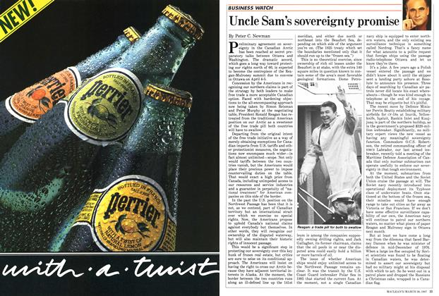 Article Preview: Uncle Sam's sovereignty promise, March 1987 | Maclean's