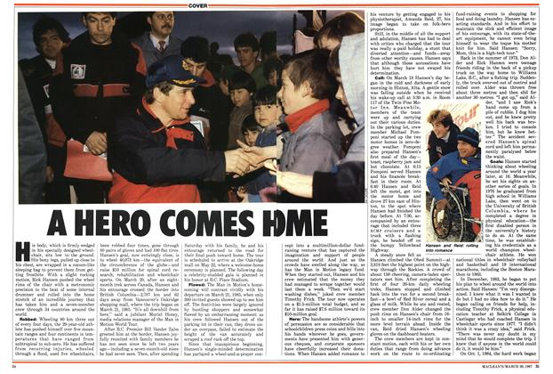 Article Preview: A HERO COMES HOME, March 1987 | Maclean's