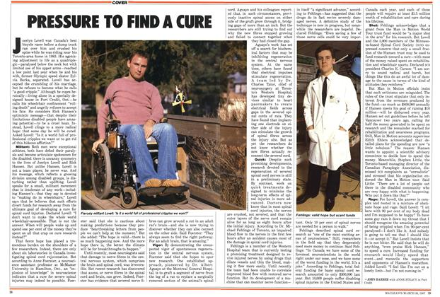 Article Preview: PRESSURE TO FIND A CURE, March 1987 | Maclean's