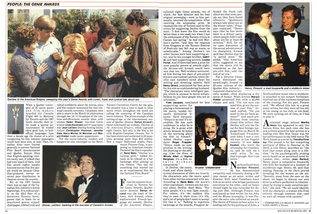 Article Preview: THE GENIE AWARDS, March 1987 | Maclean's