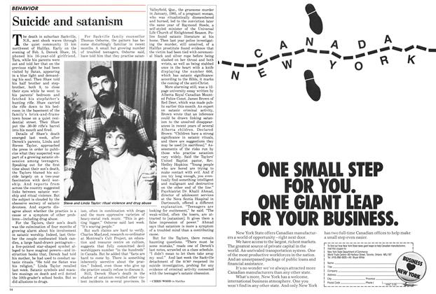 Article Preview: Suicide and satanism, March 1987 | Maclean's