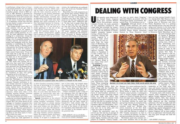 Article Preview: DEALING WITH CONGRESS, April 1987 | Maclean's