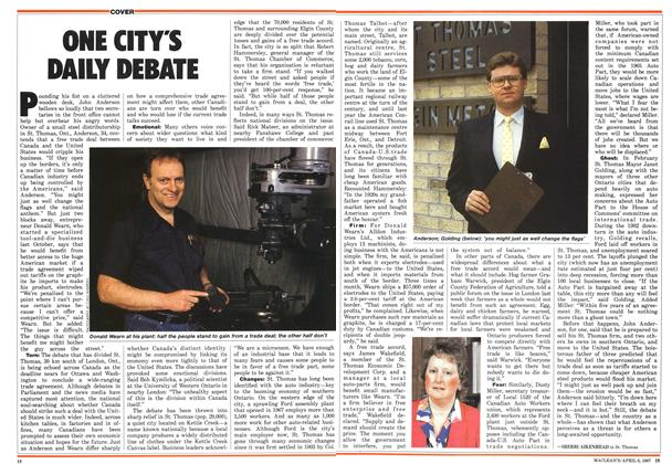 Article Preview: ONE CITY'S DAILY DEBATE, April 1987 | Maclean's