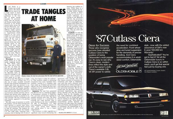 Article Preview: TRADE TANGLES AT HOME, April 1987 | Maclean's