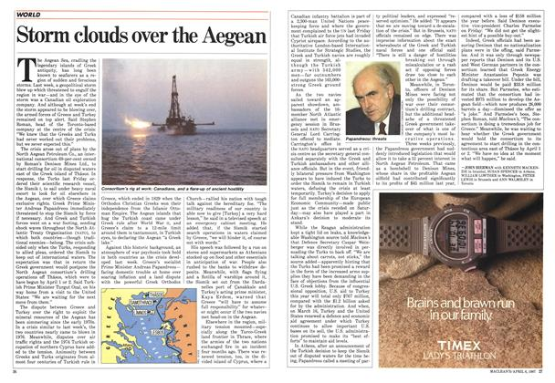 Article Preview: Storm clouds over the Aegean, April 1987 | Maclean's