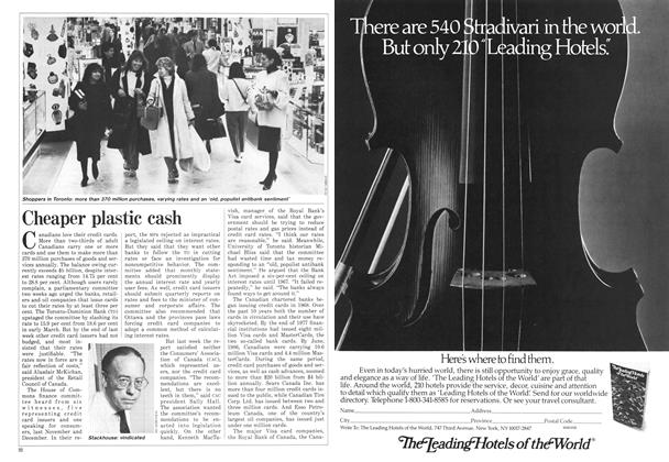 Article Preview: Cheaper plastic cash, April 1987 | Maclean's