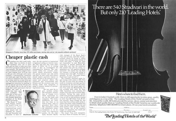 Article Preview: Cheaper plastic cash, April 1987 | Maclean's