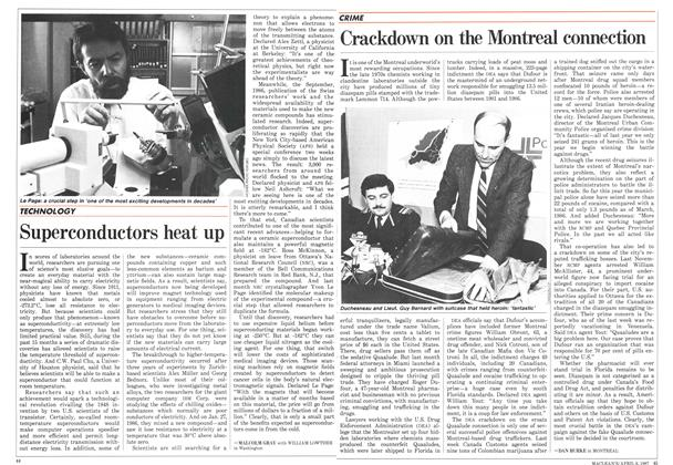 Article Preview: Crackdown on the Montreal connection, April 1987 | Maclean's