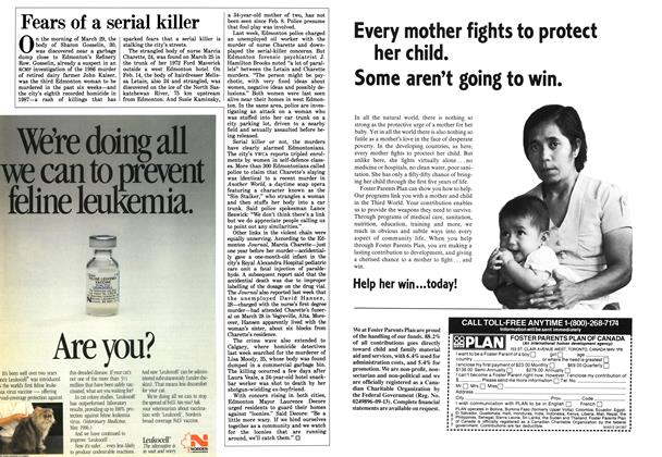 Article Preview: Fears of a serial killer, April 1987 | Maclean's