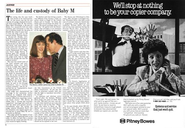 Article Preview: The life and custody of Baby M, April 1987 | Maclean's