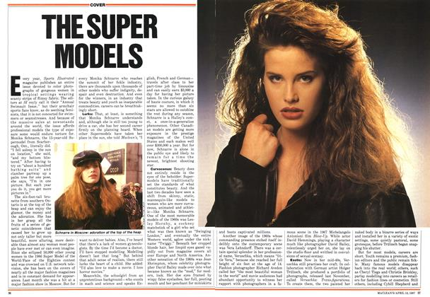 Article Preview: THE SUPER MODELS, April 1987 | Maclean's