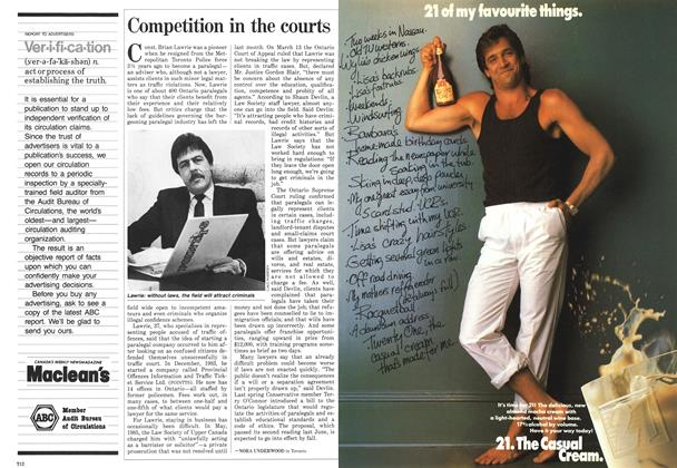 Article Preview: Competition in the courts, April 1987 | Maclean's