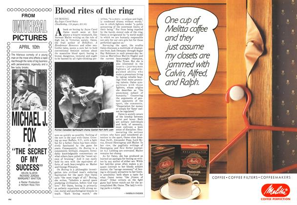 Article Preview: Blood rites of the ring, April 1987 | Maclean's
