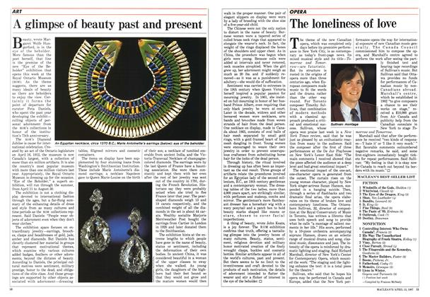 Article Preview: A glimpse of beauty past and present, April 1987 | Maclean's