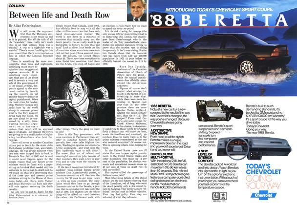 Article Preview: Between life and Death Row, April 1987 | Maclean's