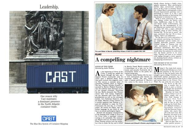 Article Preview: A compelling nightmare, April 1987 | Maclean's