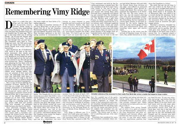 Article Preview: Remembering Vimy Ridge, April 1987 | Maclean's