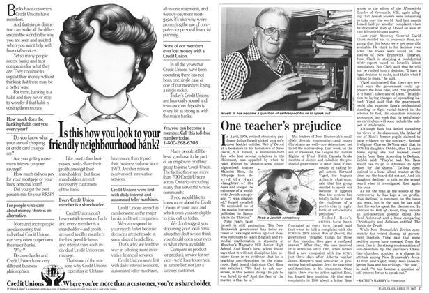 Article Preview: One teacher's prejudice, April 1987 | Maclean's