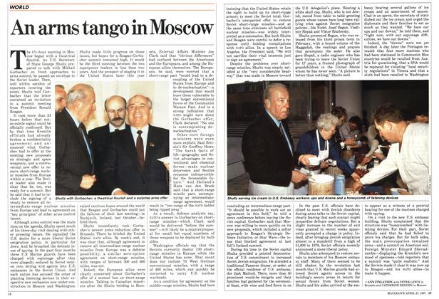 Article Preview: An arms tango in Moscow, April 1987 | Maclean's