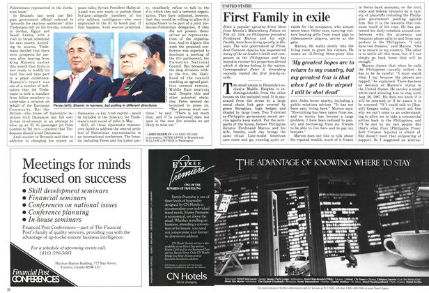 Article Preview: First Family in exile, April 1987 | Maclean's