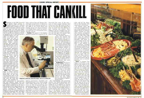 Article Preview: FOOD THAT CAN KILL, April 1987 | Maclean's