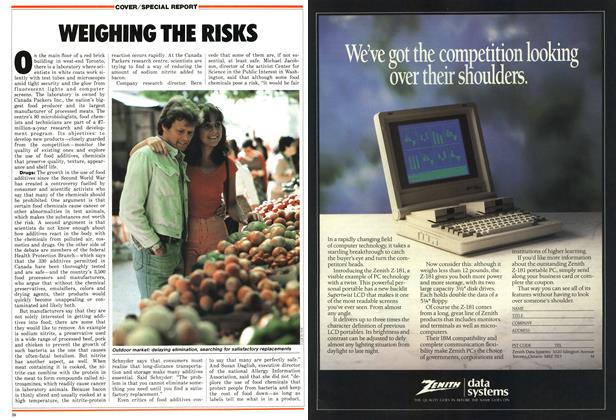 Article Preview: WEIGHING THE RISKS, April 1987 | Maclean's