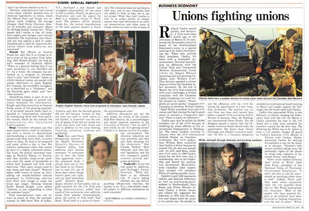 Article Preview: Unions fighting unions, April 1987 | Maclean's