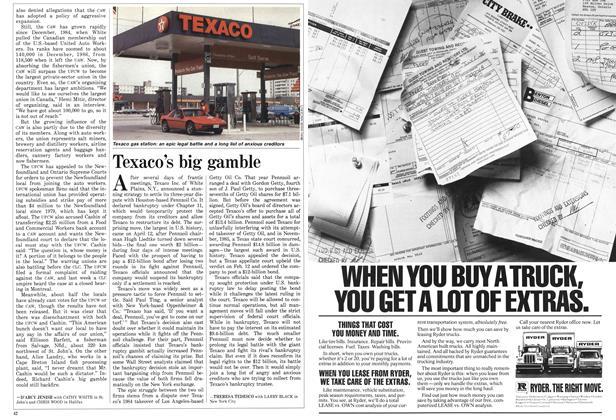Article Preview: Texaco's big gamble, April 1987   Maclean's