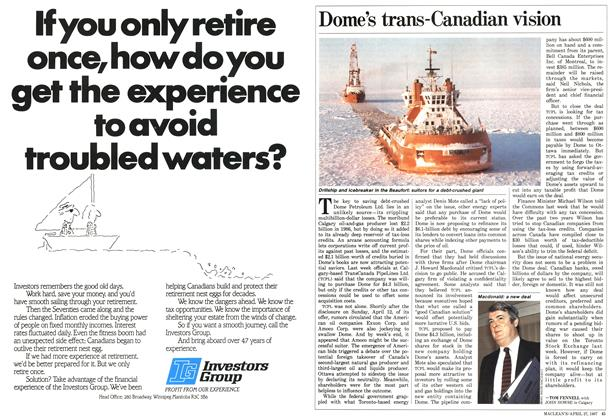 Article Preview: Dome's trans-Canadian vision, April 1987 | Maclean's