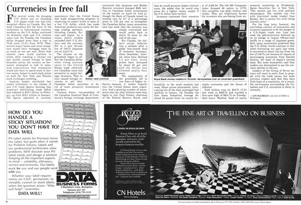 Article Preview: Currencies in free fall, April 1987 | Maclean's
