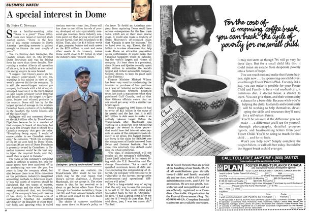 Article Preview: A special interest in Dome, April 1987 | Maclean's