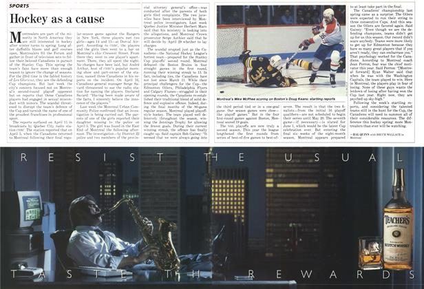 Article Preview: Hockey as a cause, April 1987 | Maclean's