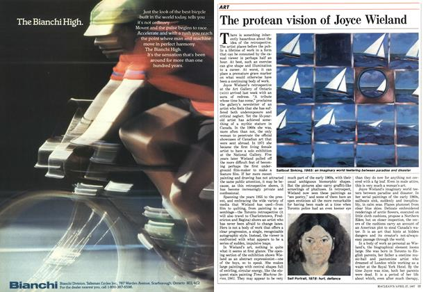 Article Preview: The protean vision of Joyce Wieland, April 1987 | Maclean's