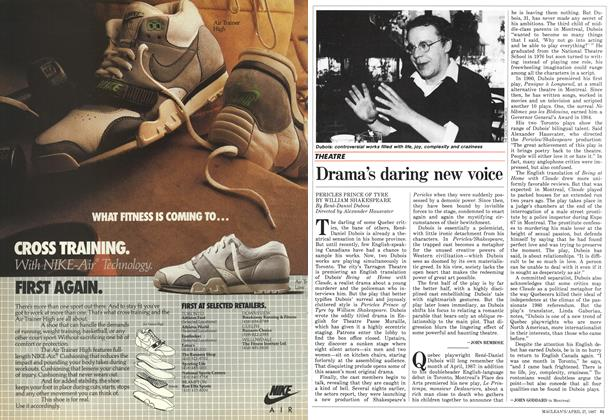 Article Preview: Drama's daring new voice, April 1987 | Maclean's