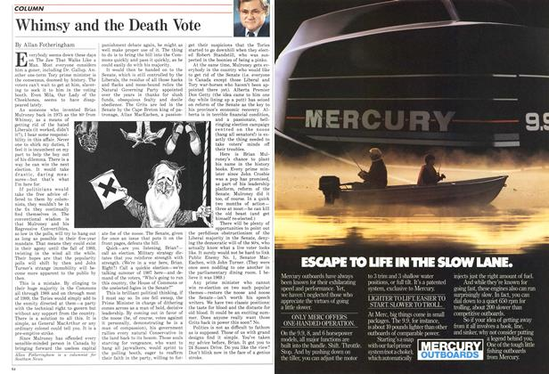 Article Preview: Whimsy and the Death Vote, April 1987 | Maclean's
