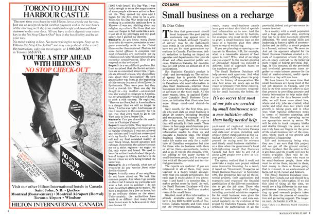 Article Preview: Small business on a recharge, April 1987 | Maclean's