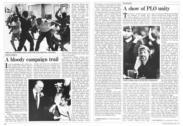 Article Preview: A show of PLO unity, May 1987 | Maclean's