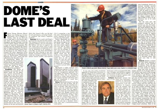 Article Preview: DOME'S LAST DEAL, May 1987 | Maclean's