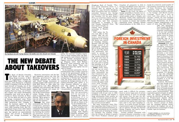 Article Preview: THE NEW DEBATE ABOUT TAKEOVERS, May 1987 | Maclean's