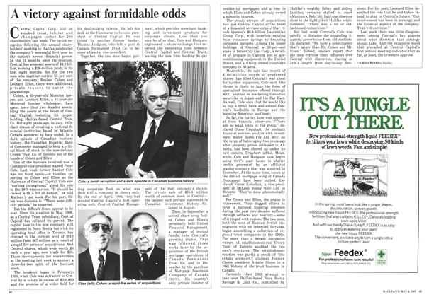 Article Preview: A victory against formidable odds, May 1987 | Maclean's