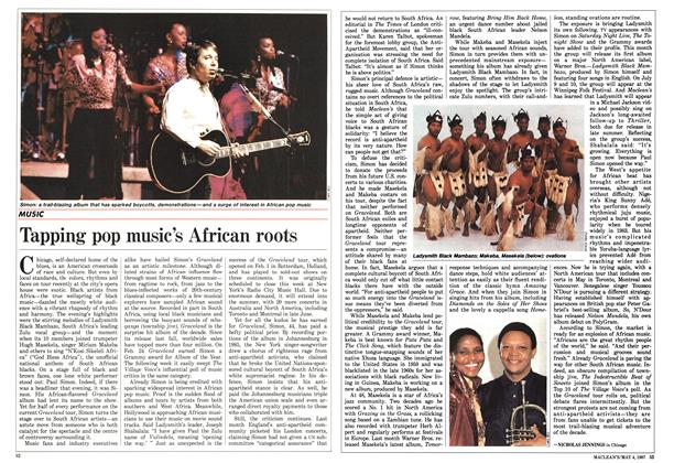 Article Preview: Tapping pop music's African roots, May 1987 | Maclean's