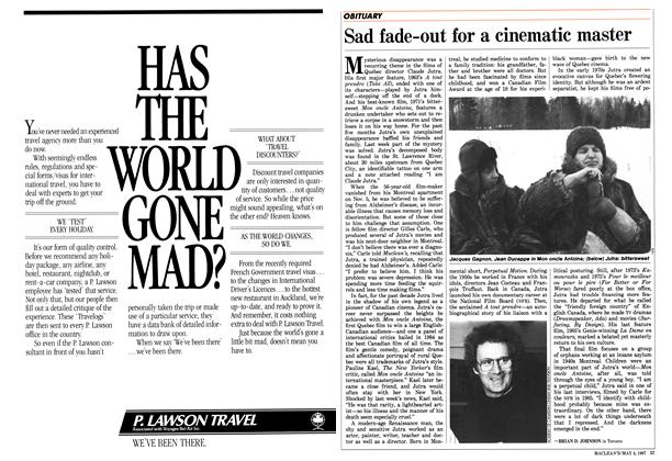 Article Preview: Sad fade-out for a cinematic master, May 1987 | Maclean's
