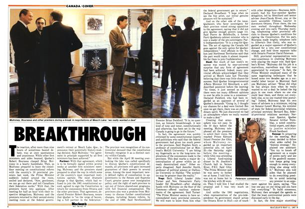 Article Preview: BREAKTHROUGH, May 1987 | Maclean's