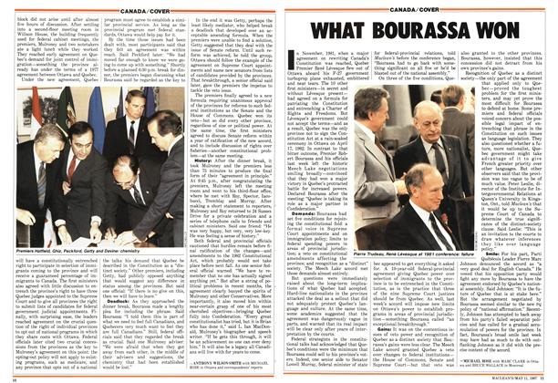 Article Preview: WHAT BOURASSA WON, May 1987 | Maclean's